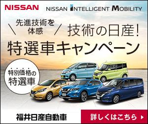 技術の日産!特選車キャンペーン|福井日産自動車株式会社